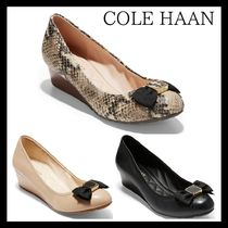 Cole Haan Round Toe Plain Leather Office Style Python