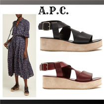A.P.C. Casual Style Plain Heeled Sandals
