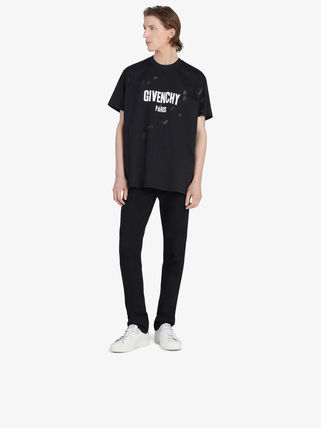 GIVENCHY Crew Neck Crew Neck Pullovers Unisex Street Style Plain Cotton 5