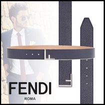 FENDI Plain Leather Belts