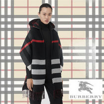 Burberry Glen Patterns Wool Medium Ponchos & Capes