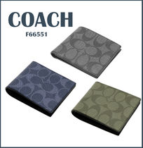 Coach SIGNATURE PVC Clothing Folding Wallets
