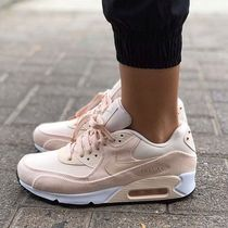 Nike AIR MAX 90 Rubber Sole Lace-up Unisex Street Style Plain Leather