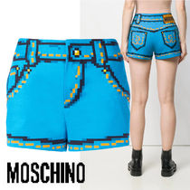 Moschino Short Casual Style Cotton Denim & Cotton Shorts