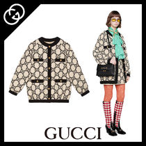 GUCCI Casual Style Tweed Oversized Jackets