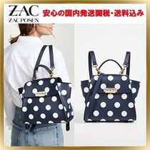 ZAC ZAC POSEN Dots 3WAY Leather Elegant Style Backpacks