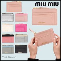 MiuMiu MADRAS Card Holders