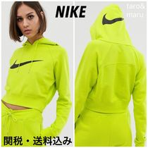 Nike Short Street Style Long Sleeves Plain Cotton Cropped
