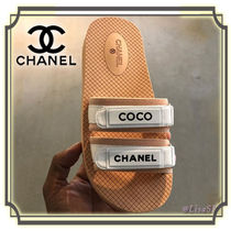 CHANEL Open Toe Casual Style Sport Sandals Flat Sandals