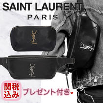 Saint Laurent Monogram Unisex Calfskin Hip Packs