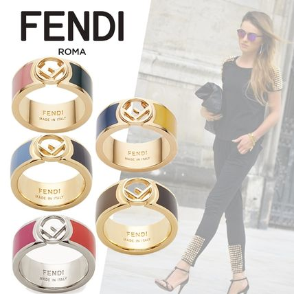 Initial Brass Elegant Style Rings