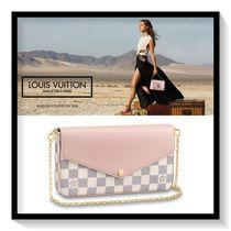 Louis Vuitton Other Check Patterns Canvas Blended Fabrics Chain