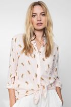 Ron Herman Tropical Patterns Linen Blended Fabrics Long Sleeves