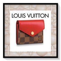 Louis Vuitton Other Check Patterns Canvas Blended Fabrics Folding Wallet