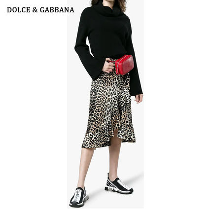 Dolce & Gabbana Low-Top Rubber Sole Casual Style Blended Fabrics Street Style 3