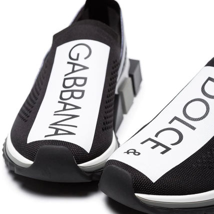 Dolce & Gabbana Low-Top Rubber Sole Casual Style Blended Fabrics Street Style 6