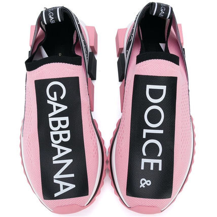 Dolce & Gabbana Low-Top Rubber Sole Casual Style Blended Fabrics Street Style 10