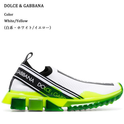 Dolce & Gabbana Low-Top Rubber Sole Casual Style Blended Fabrics Street Style 15
