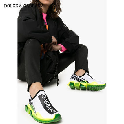 Dolce & Gabbana Low-Top Rubber Sole Casual Style Blended Fabrics Street Style 16