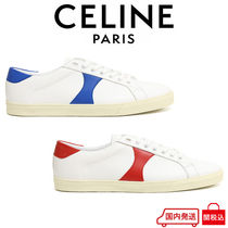 CELINE Triomphe Bi-color Leather Logo Sneakers