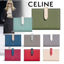 CELINE Calfskin Plain Folding Wallets