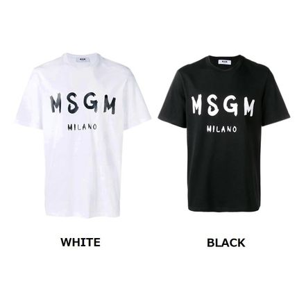 MSGM Crew Neck Crew Neck Pullovers Street Style Cotton Short Sleeves 2