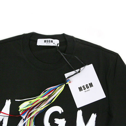 MSGM Crew Neck Crew Neck Pullovers Street Style Cotton Short Sleeves 4
