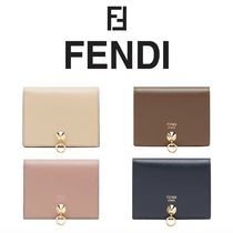 FENDI BY THE WAY Calfskin Plain Folding Wallets