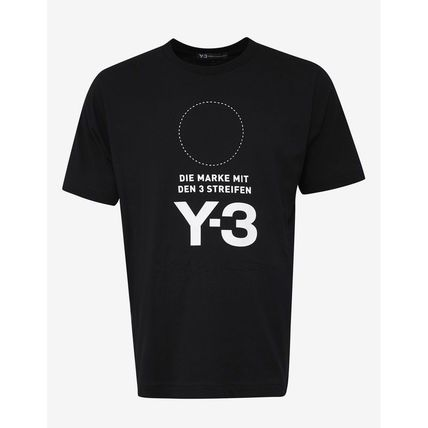 Y-3 More T-Shirts Crew Neck Unisex Street Style Plain Cotton T-Shirts 6