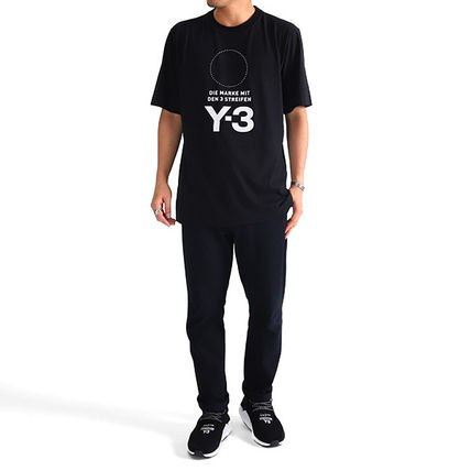 Y-3 More T-Shirts Crew Neck Unisex Street Style Plain Cotton T-Shirts 8