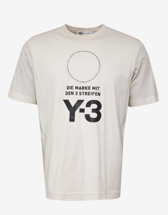 Y-3 More T-Shirts Crew Neck Unisex Street Style Plain Cotton T-Shirts 3