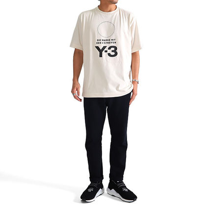 Y-3 More T-Shirts Crew Neck Unisex Street Style Plain Cotton T-Shirts 5