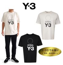 Y-3 Crew Neck Unisex Street Style Plain Cotton T-Shirts