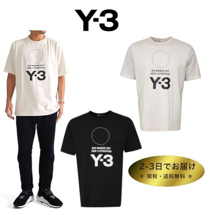Y-3 More T-Shirts Crew Neck Unisex Street Style Plain Cotton T-Shirts