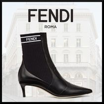 FENDI Casual Style Pin Heels Ankle & Booties Boots