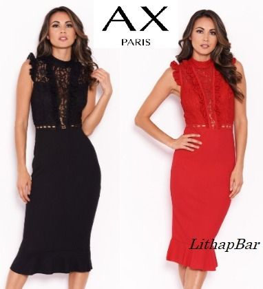 Tight Sleeveless Plain Medium Party Style High-Neck Lace