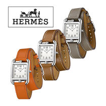 HERMES Casual Style Unisex Street Style Leather Square