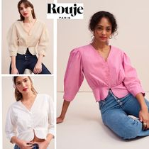 Rouje Cotton Puff Sleeves Shirts & Blouses