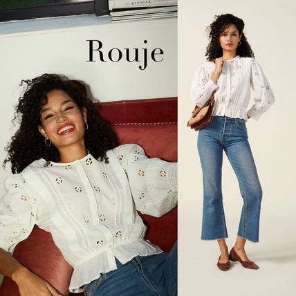 Cotton Puff Sleeves Shirts & Blouses