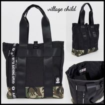 A BATHING APE Camouflage Nylon Street Style Totes