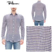 Ron Herman Button-down Gingham Long Sleeves Cotton Shirts