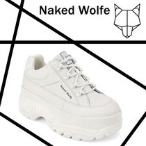Naked Wolfe Unisex Blended Fabrics Street Style Leather Sneakers