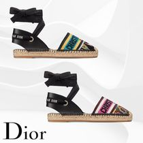 Christian Dior Open Toe Blended Fabrics Espadrille Shoes