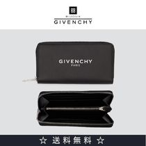 GIVENCHY Blended Fabrics Plain Leather Long Wallets