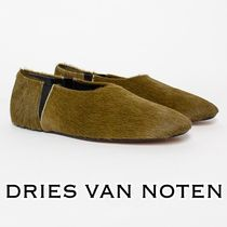 Dries Van Noten Moccasin Round Toe Casual Style Spawn Skin Plain