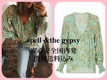 SPELL Flower Patterns Paisley Casual Style Medium Puff Sleeves
