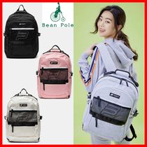 BEAN POLE Casual Style Unisex Street Style Backpacks