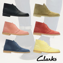 Clarks Street Style Plain Leather U Tips Chelsea Boots