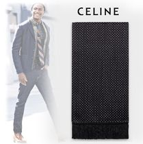 CELINE 2019-20AW CLASSIC EVENING LONG SCARF black scarves