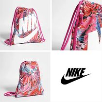 Nike Flower Patterns Street Style Backpacks